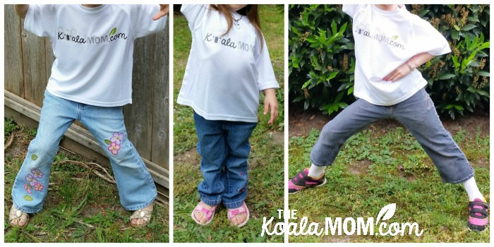 The Koala Mom's daughters wearing their new TKM T-shirts from Bravo Apparel