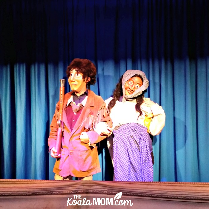 David and Charlotte Thompson puppets at the Rocky Mountain House National Historic Site puppet theatre