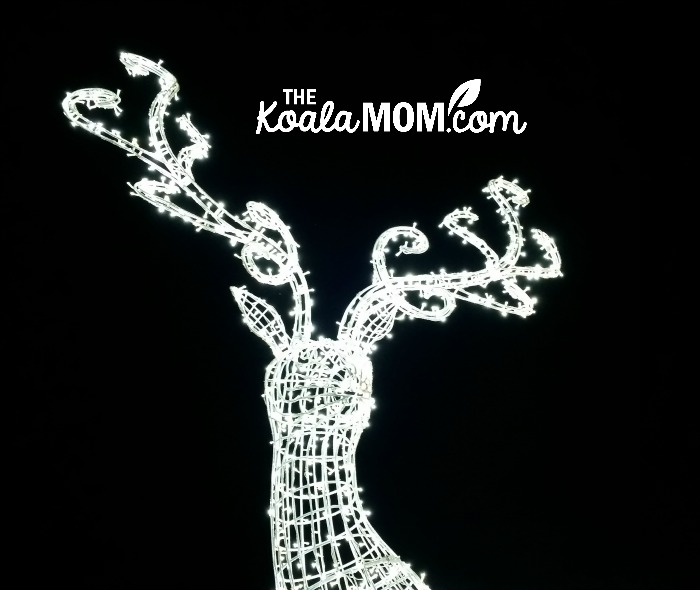 A light reindeer at Enchant Christmas - one of our favourite family Christmas activities in Vancouver