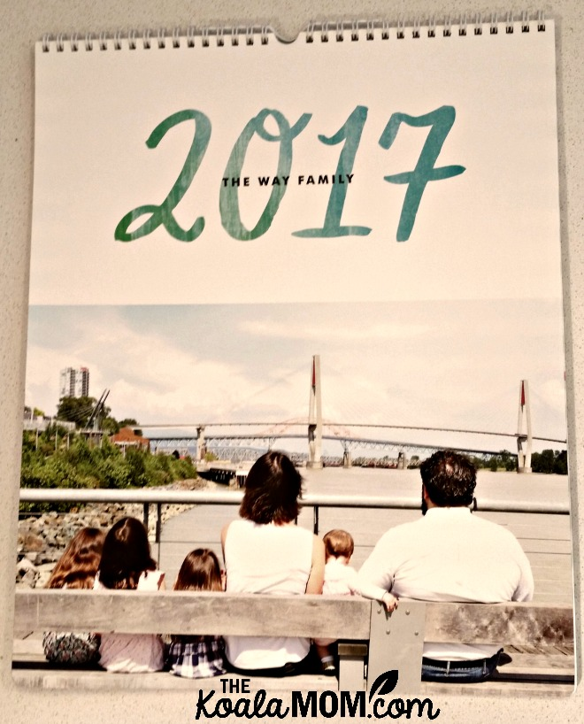 The Way Family 2017 photo calendar from Minted