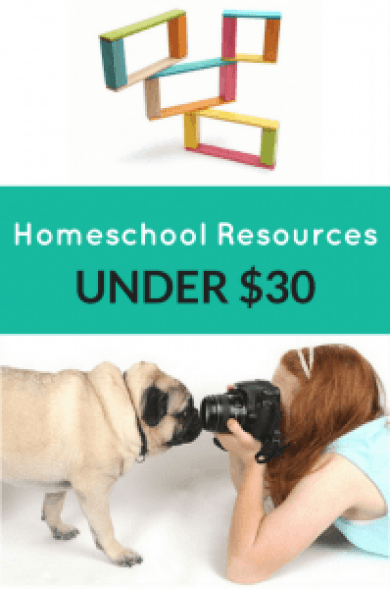 homeschool resources under $30