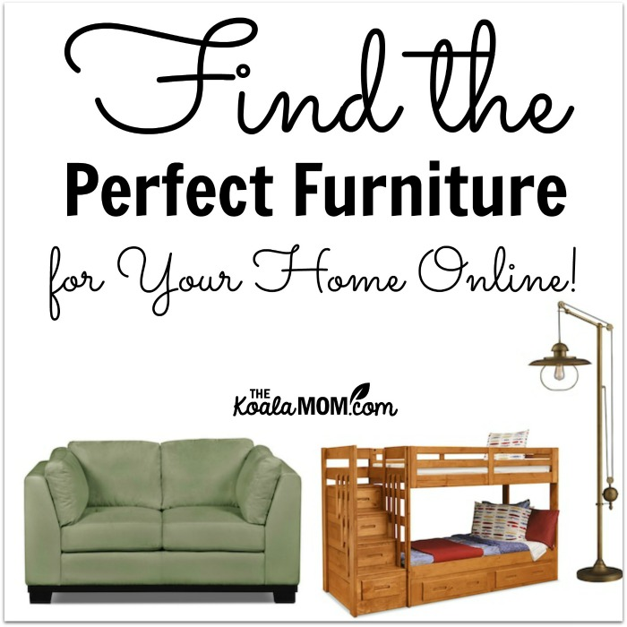 Finding furniture for your home online is easy and fun!