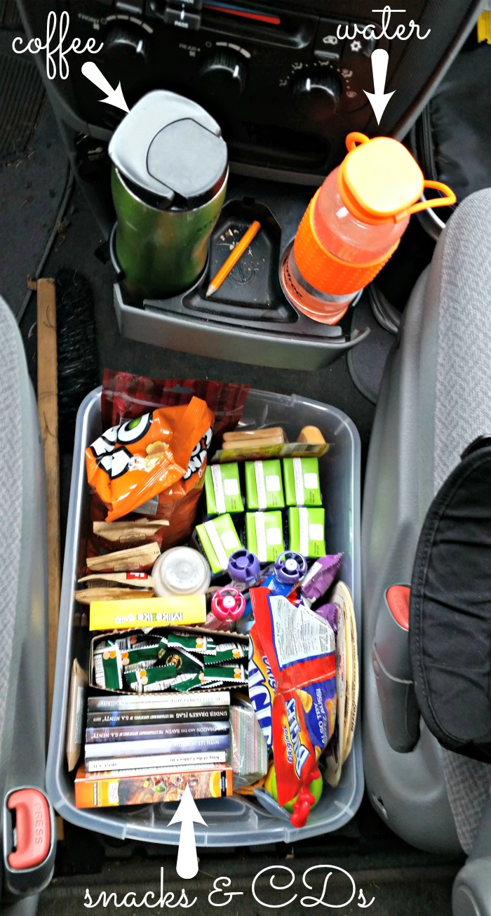 Snacks keep children busy on road trips