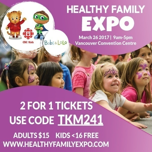 Healthy Family Expo 2 for 1 tickets