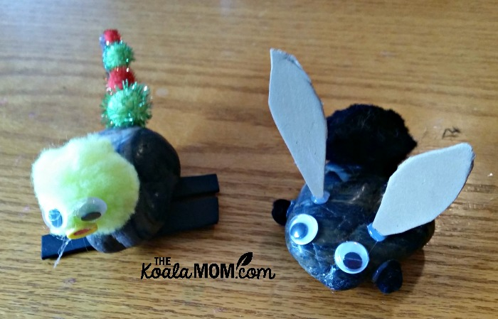 Rock pets, made ideas from one of our new craft books from DK Canada
