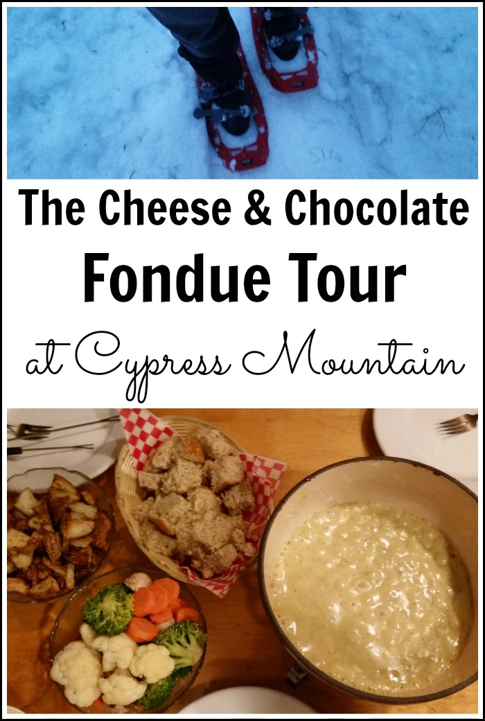 The Cheese & Chocolate Fondue Snowshoe Tour at Cypress Mountain Resort