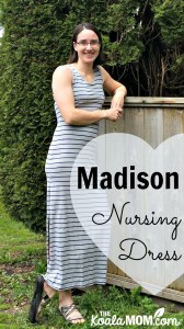 The Madison Nursing Dress from the Momzelle Spring Collection