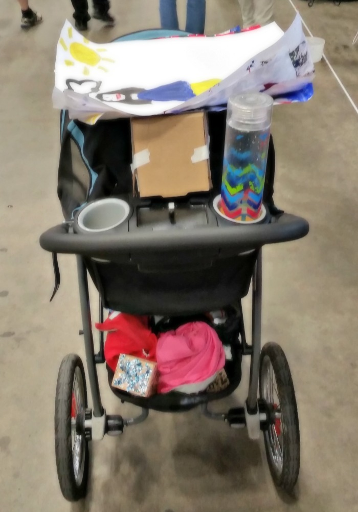 My Graco stroller at the Mini Maker Faire