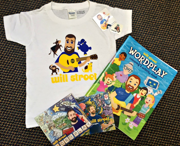 Will Stroet music prize pack (shirt, colouring book, and two CDs)