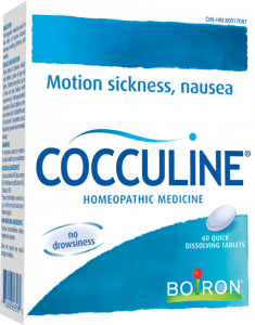 Boiron Cocculine, a homeopathic motion sickness remedy