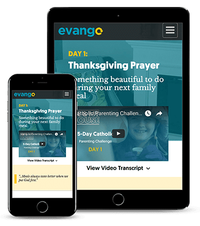 5-day Catholic parenting challenge from Evango