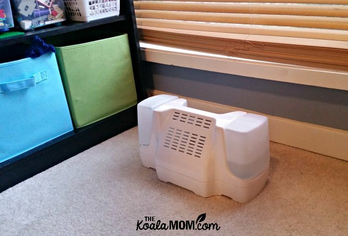 Eco-friendly rumidifier installed in a bedroom vent