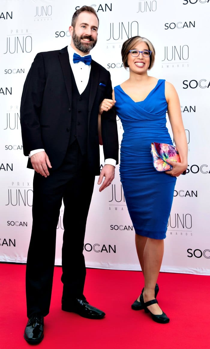 Will Stroet and Kim The at the 2017 Junos in Ottawa courtesy of Kim Ing Photography