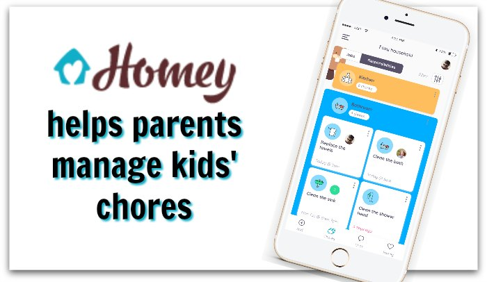 The Homey app helps parents manage kids' chores