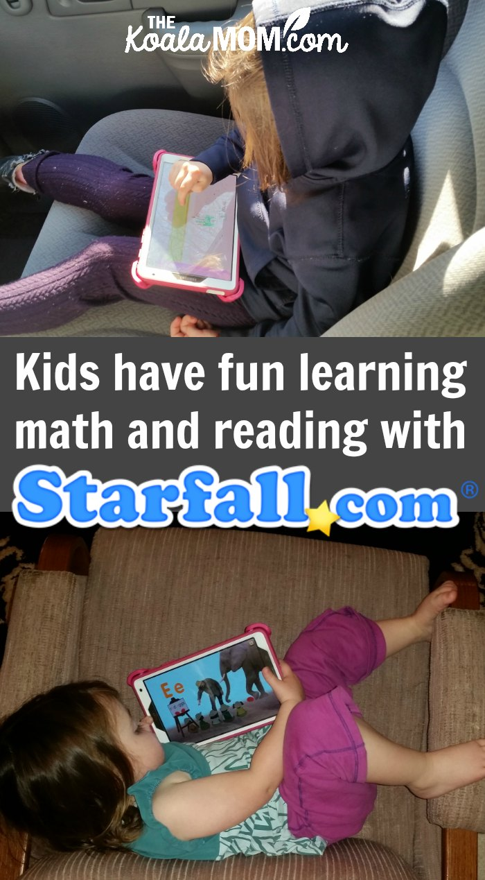 Kids have fun learning math and reading with Starfall.com, a website and app for preschool through Grade 2. With games, songs, and stories, children learn math and phonics, plus other skills, while having fun!