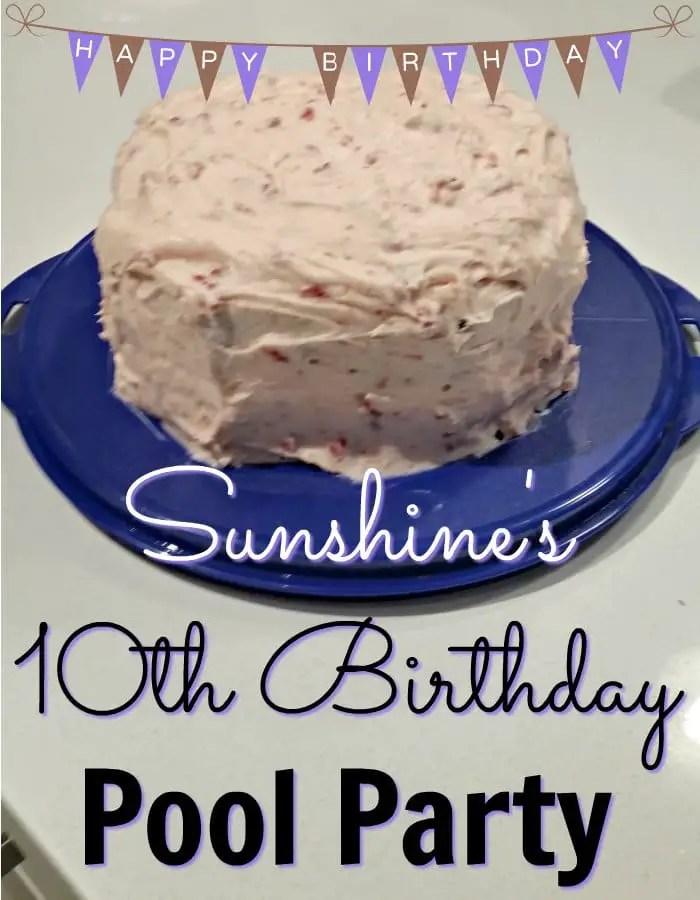 Sunshine's 10th Birthday Pool Party