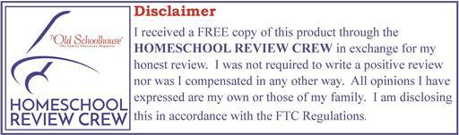 Schoolhouse Homeschool Review Crew DisclaimerSchoolhouse Homeschool Review Crew Disclaimer