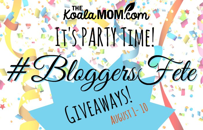 The 2018 BloggersFete giveaways, sponsored by Raincoast Books, Pure Hazelwood, Mia's Moccs, Homey app, My FUNvelope, Boiron, Starfall, Homeschool Navigator, Sportball