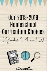 Our 2018-2019 Homeschool Curriculum Choices (Grades 1, 4 and 5)