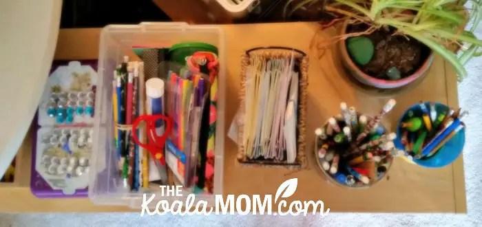 Homeschool supplies.