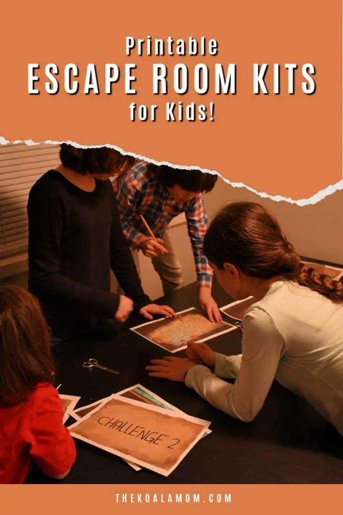 printable escape room kits for kids