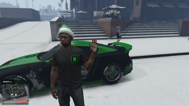 It's a white Christmas in Los Santos - Captured by me