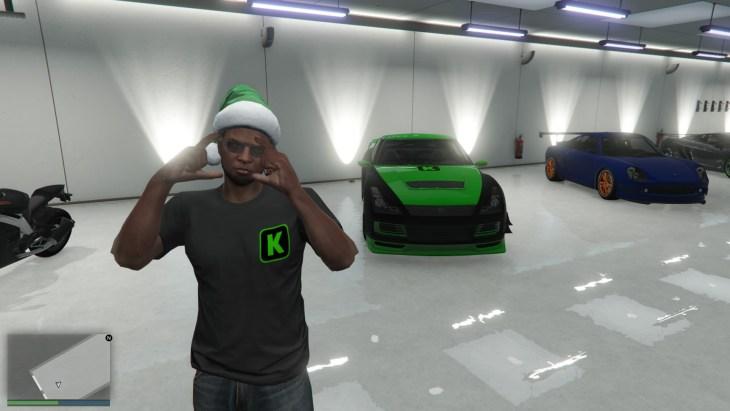 Posing in my garage