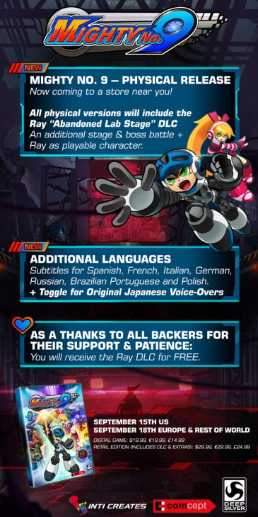 mighty no. 9 infographic