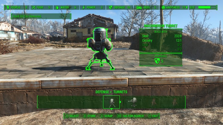 Fallout 4 crafting turrets