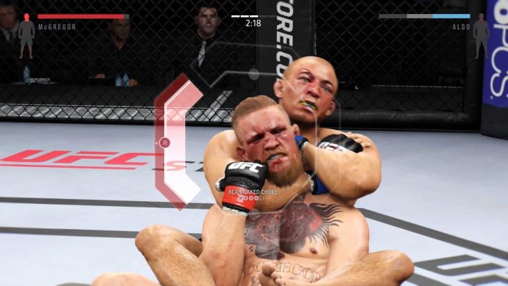 EA SPORTS™ UFC® 2 Aldo choking McGregor