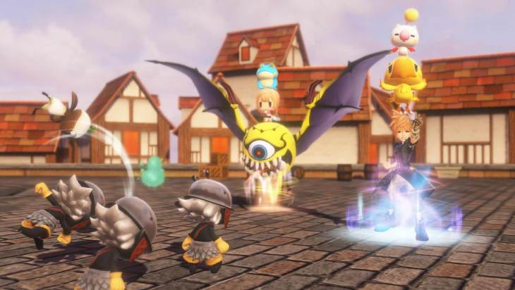 A pic showing stacking in World of Final Fantasy