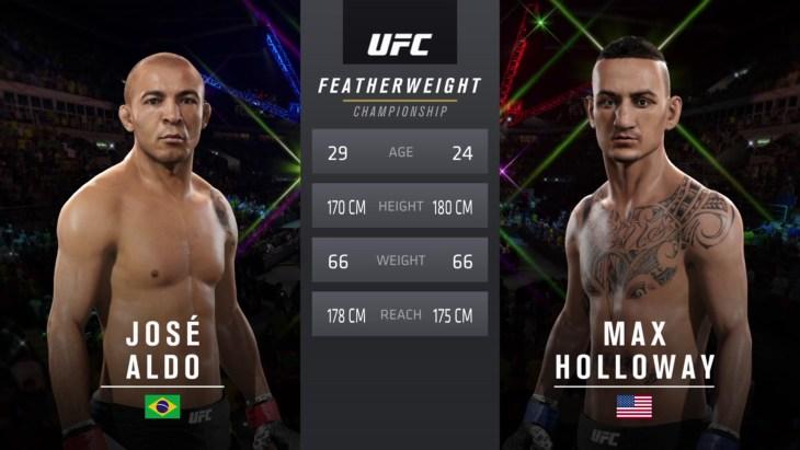 Aldo vs Holloway UFC 212