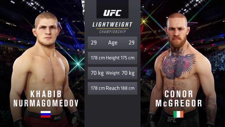 UFC 229: Khabib vs. McGregor - Lightweight Title Match - CPU Prediction