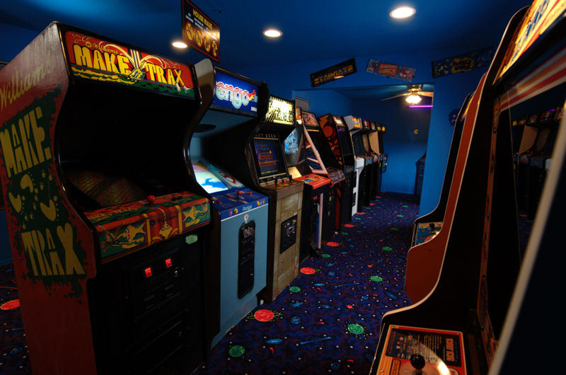 The vintage look of an arcade