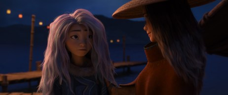 """In her newfound human form, Sisu learns the ways Kumandra has changed as she and Raya team up to save the world from the destructive Drunn. Featuring Kelly Marie Tran as the voice of Raya and Awkwafina as the voice of Sisu, Walt Disney Animation Studios' """"Raya and the Last Dragon"""" will be in theaters and on Disney+ with Premier Access on March 5, 2021. © 2021 Disney. All Rights Reserved."""