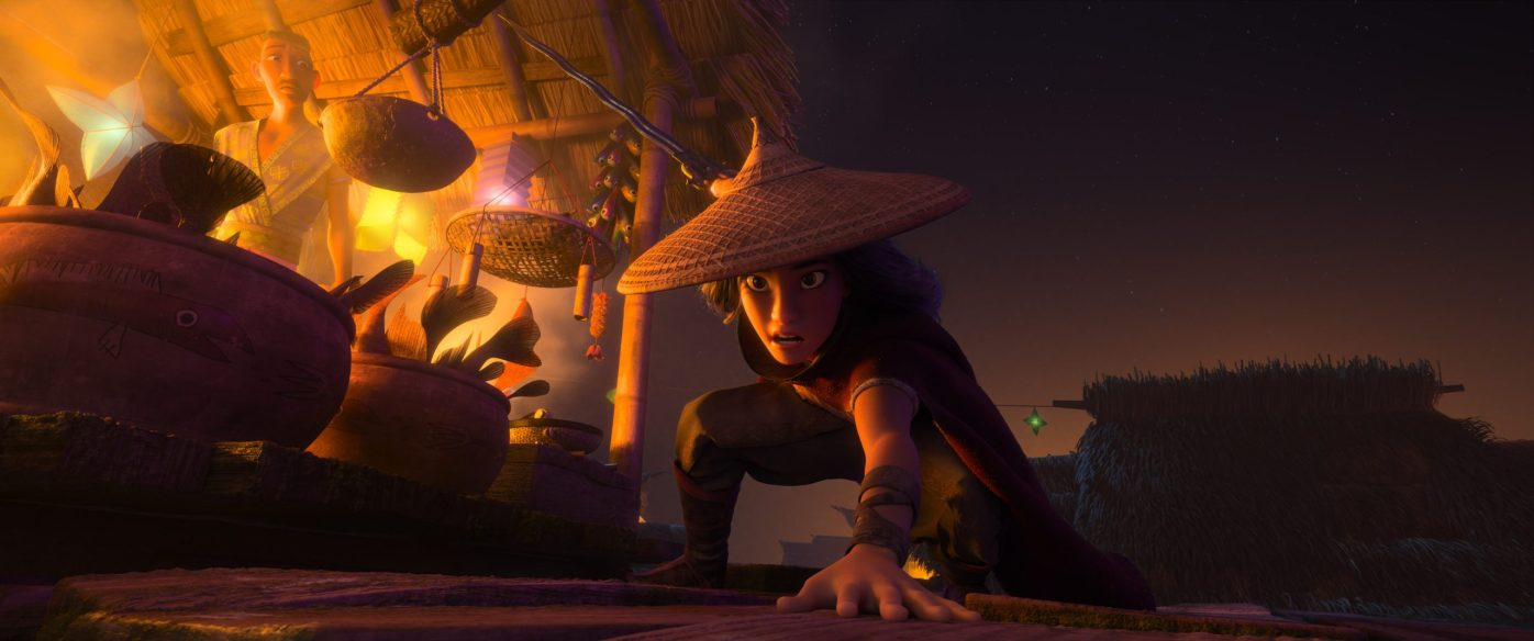 RAYA AND THE LAST DRAGON - Raya, a lone warrior whose wit is as sharp as her blade, must track down the legendary last dragon to restore her fractured land and its divided people. © 2020 Disney. All Rights Reserved.