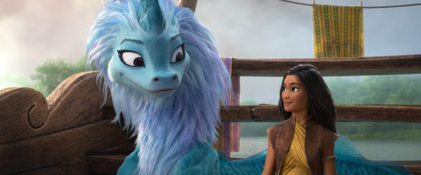RAYA AND THE LAST DRAGON - (L-R): Sisu and Raya. © 2021 Disney. All Rights Reserved.