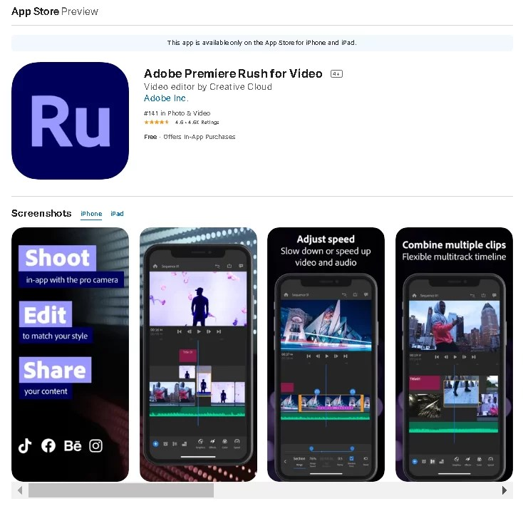 Adobe Premiere Rush for Android iOS Free thekoffeetable 7 Completely Free Adobe Software & Apps