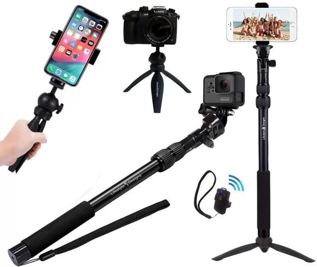 rugged 4 in 1 Selfie Stick Tripod Stand Kit thekoffeetable Smartphone Filmmaking,filmmaking kit,smartphone filmmaking kit