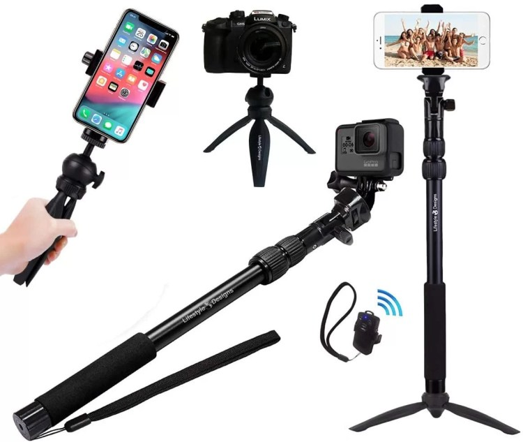 rugged 4 in 1 Selfie Stick Tripod Stand Kit thekoffeetable 6 Essential Smartphone Filmmaking Equipment for Vlogging