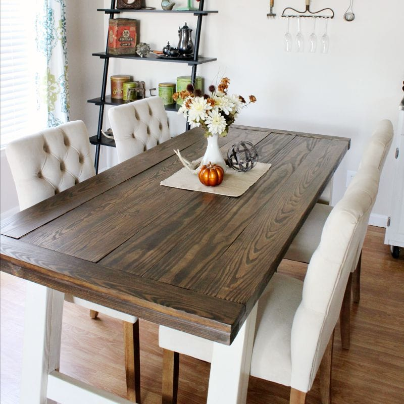 DIY Farmhouse Style Dining Table | The Kolb Corner