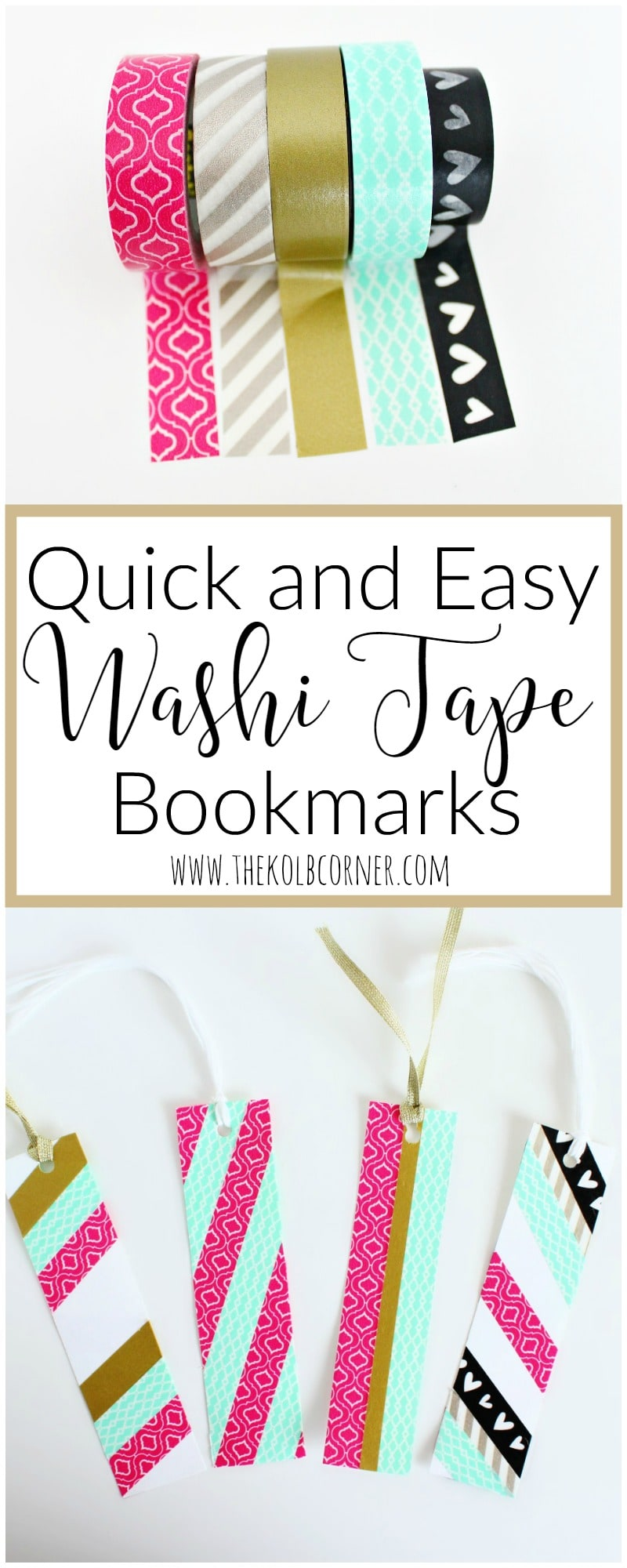 Washi Tape Bookmarks Pin