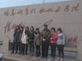 Dan with students at Qufu normal school