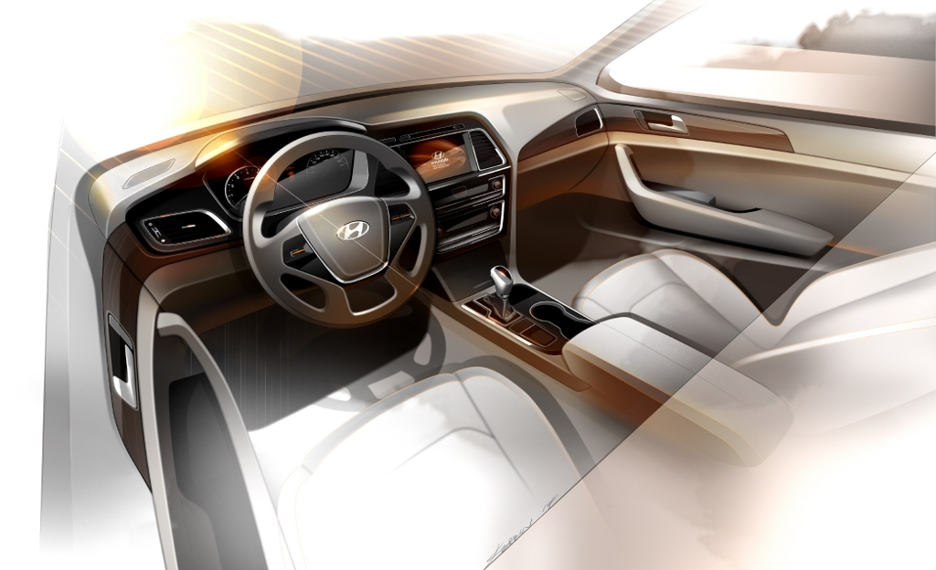 140305 All-new Sonata interior rendering