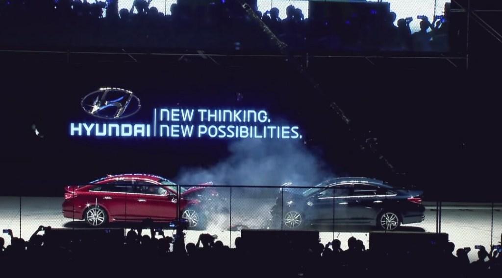 sonata car to car crash test