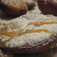 Sufganiyot with Dulce De Leche filling