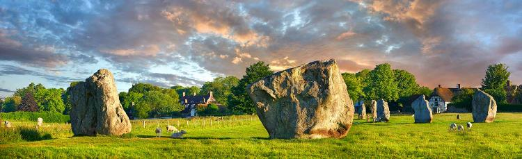Standing stones in Avebury, United Kingdom where the veil is thin between the worlds