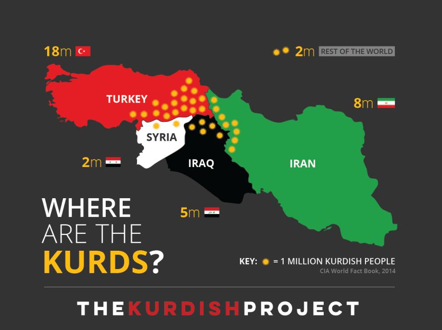 Kurdistan Map | The Kurdish Project