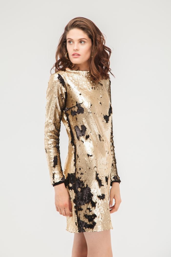 Платье из пайеток золотое - THE LACE