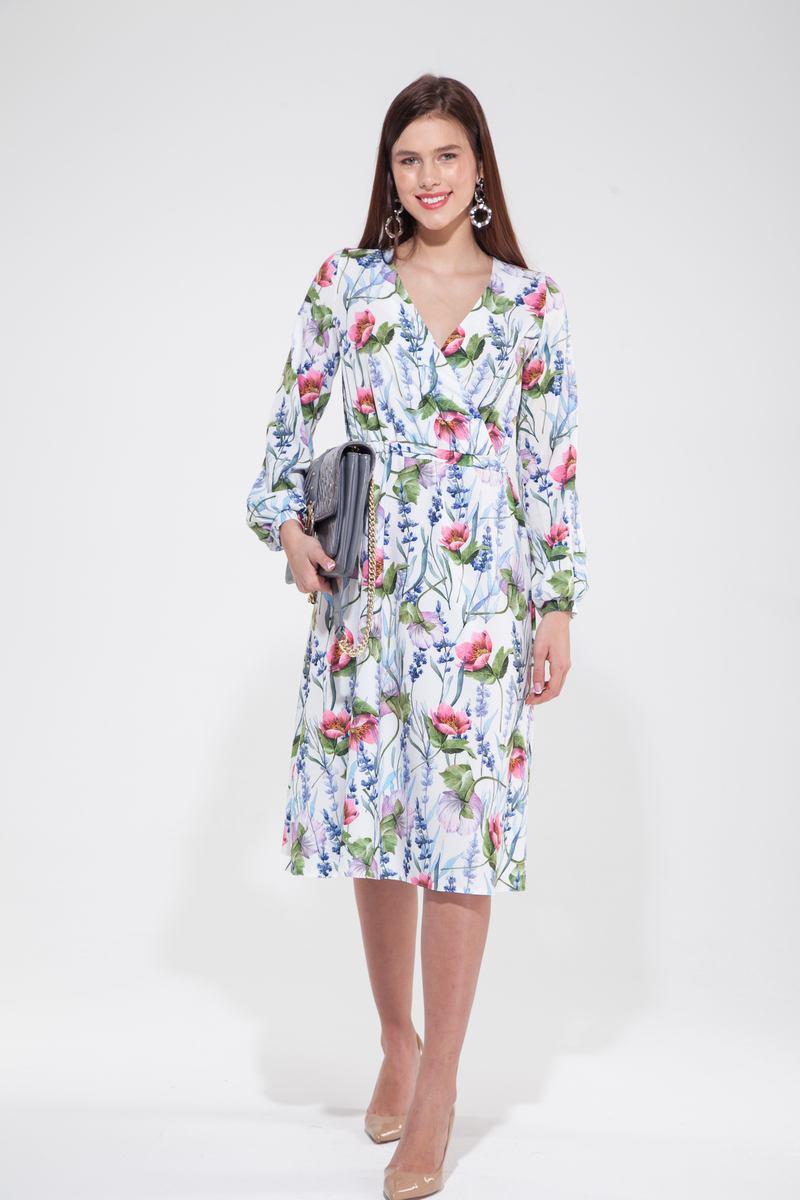 Платье миди на запах Floral mood - THE LACE